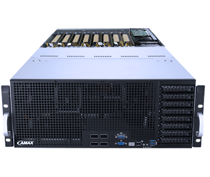 AMAX BrainMax DL-E48A Re-Configurable PCIe Dual Root Complex Deep Learning Server