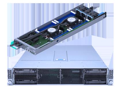 AMAX ServMax X 240L 2U Quad Node Dual Processors Intel Xeon Liquid-Cooling Server Solution